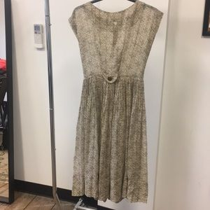 Dresses & Skirts - Patterned Pleated Dress